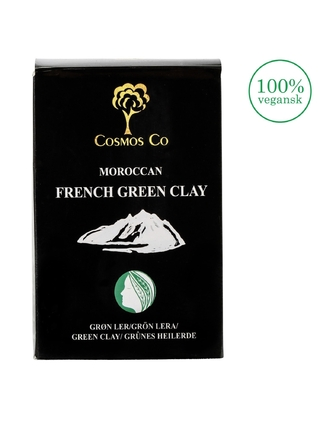 Morrocan French Green Clay - Grüner Ton, 200 Gramm