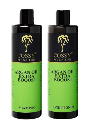 Sæt - Cossy Argan oil Extra Booost Conditioner & Shampoo