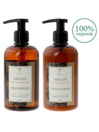 Sæt - Cossy Argan Shampoo & Conditioner - Balsam